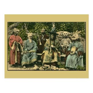 vintage Darjeeling, grupo de lamas Postal