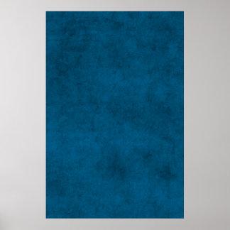 Vintage Dark Blue Paper Parchment Personalized Poster