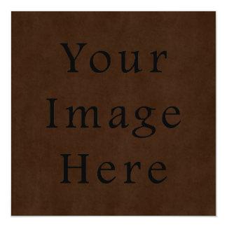 Vintage Dark Brown Espresso Parchment Paper Card
