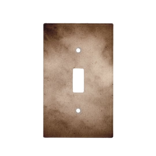 vintage dark brown parchment paper template light switch cover