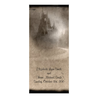 Vintage Dark Castle Gothic Reception Menu Card
