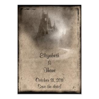 Vintage Dark Castle Gothic Wedding Card