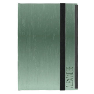 Vintage Dark Green Metallic Look iPad Mini Cases