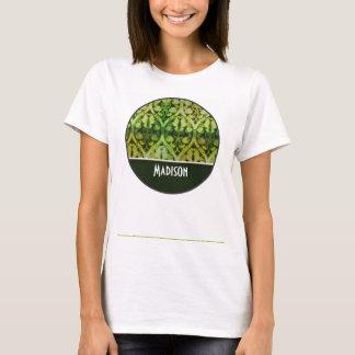 Vintage Dark Green Pattern T-Shirt