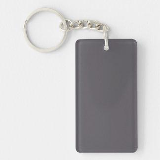 Vintage Dark Mauve Purple Color Trend Template Single-Sided Rectangular Acrylic Keychain