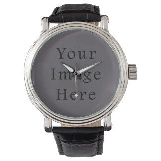 Vintage Dark Mauve Purple Color Trend Template Wrist Watches