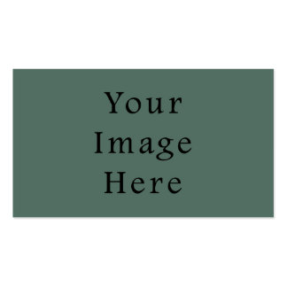 Vintage Dark Moss Green Color Trend Template Business Card