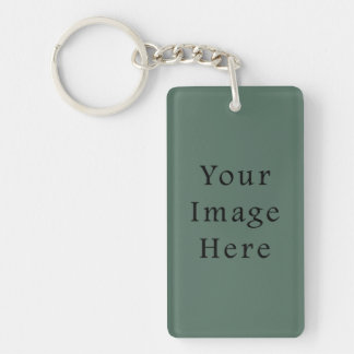 Vintage Dark Moss Green Color Trend Template Keychain