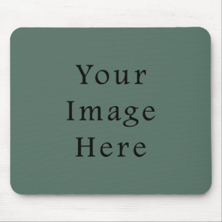Vintage Dark Moss Green Color Trend Template Mouse Pad