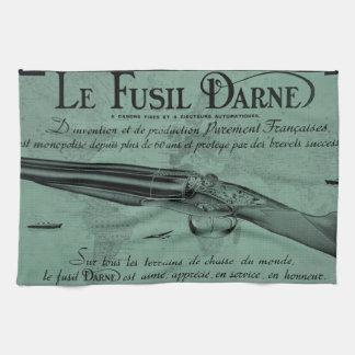 Vintage Darne Firearms Shotgun Kitchen Towel