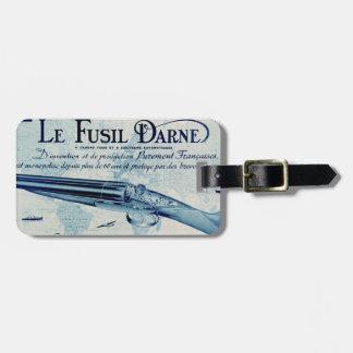 Vintage Darne Firearms Shotgun Luggage Tag (Blue)