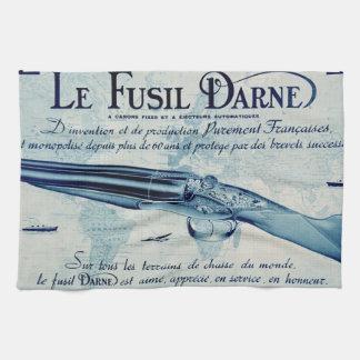 Vintage Darne Shotgun Kitchen Towel (Blue)