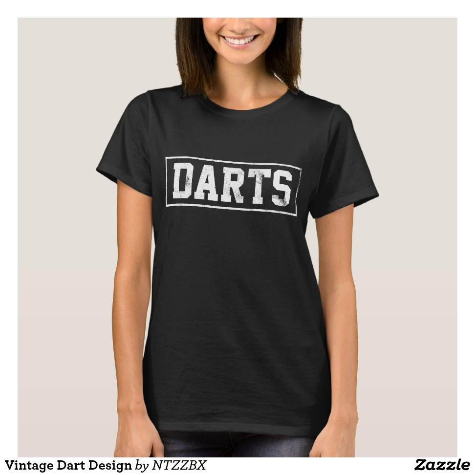 Vintage Dart Design T-Shirt - Best Selling Long-Sleeve Street Fashion Shirt Designs