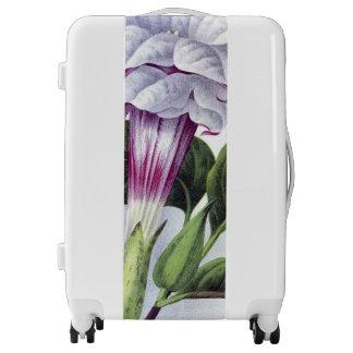 VINTAGE Datura Cornucopia PURPLE FLORAL Luggage