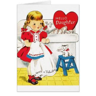 Vintage Daughter Valentine's Day Greeting Card