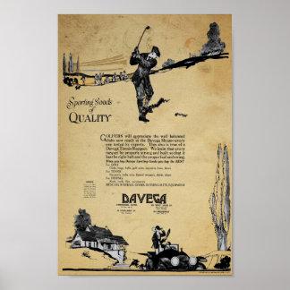 Vintage Davega Sporting Goods Ad Print