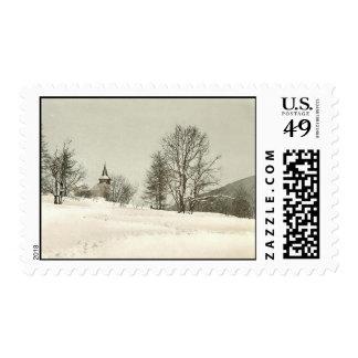 Vintage Davos, Switzerland - Postage Stamp
