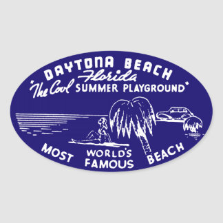 Vintage Daytona Beach Oval Sticker