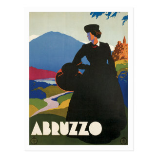 Vintage de Abruzos Italia Postal