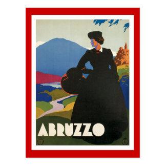 Vintage de Abruzos Italia Postales