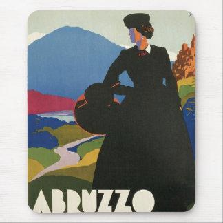 Vintage de Abruzos Italia Alfombrillas De Raton