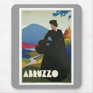 Vintage de Abruzos Italia Alfombrillas De Ratón