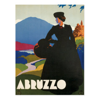 Vintage de Abruzos Italia Tarjetas Postales
