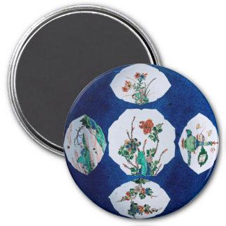 Vintage de cerámica imán redondo 7 cm