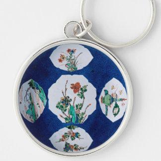 Vintage de cerámica llavero personalizado