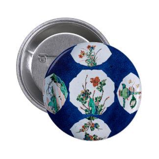 Vintage de cerámica pin redondo 5 cm
