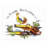 Vintage de Coq del gallo Tarjeta Postal