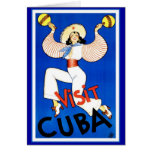 Vintage de Cuba de la visita Tarjeta