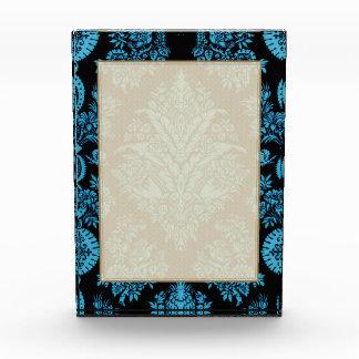 Vintage de encaje floral - aguamarina brillante en