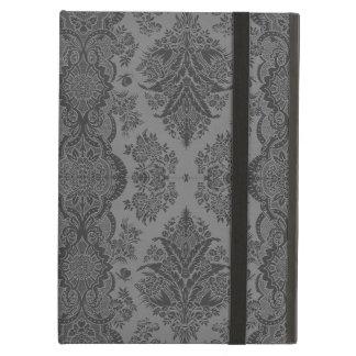 Vintage de encaje floral en gris