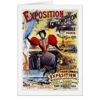 Vintage de Exposition de Locomotion 1895 - París - Tarjetón