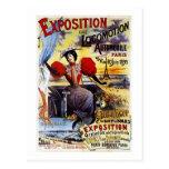 Vintage de Exposition de Locomotion 1895 - París - Postal