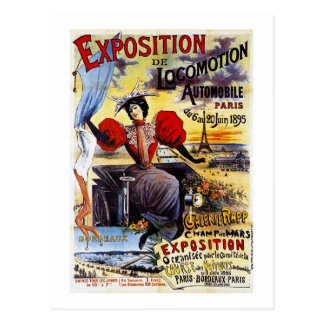 Vintage de Exposition de Locomotion 1895 - París - Postales
