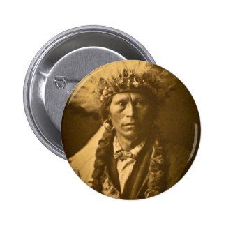 Vintage de Garfield Jicarilla del jefe indio de Ap Pins