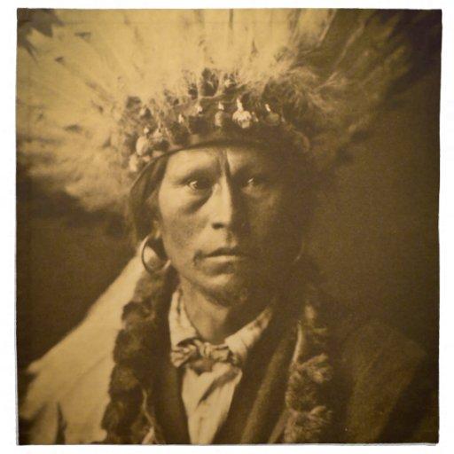 Vintage de Garfield Jicarilla del jefe indio de Ap Servilletas