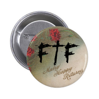 Vintage de Geocachers FTF Pin feliz de muchas devo