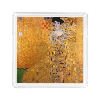 Vintage de Gustavo Klimt Adela Bandeja Cuadrada