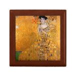 """Vintage de Gustavo Klimt """"Adela"""" Joyero Cuadrado Pequeño"""