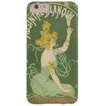 Vintage de hadas verde de Nouveau del arte del Funda De iPhone 6 Plus Barely There