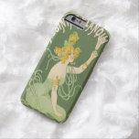 Vintage de hadas verde de Nouveau del arte del Funda De iPhone 6 Barely There