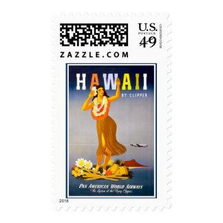 Vintage de Hawaii del franqueo