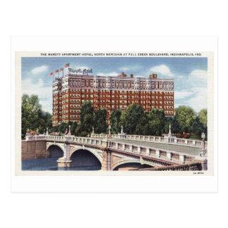 Vintage de Indianapolis Indiana del hotel de Marot Tarjetas Postales