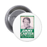 Vintage de Jimmy Carter Pin Redondo De 2 Pulgadas