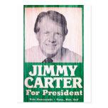 Vintage de Jimmy Carter Postal