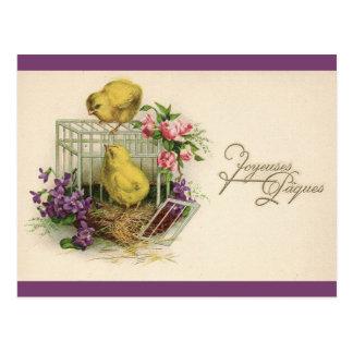 Vintage de Joyeuses Paques (Pascua feliz) Tarjetas Postales