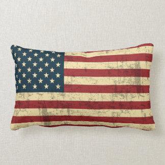 Vintage de la bandera americana apenado cojines